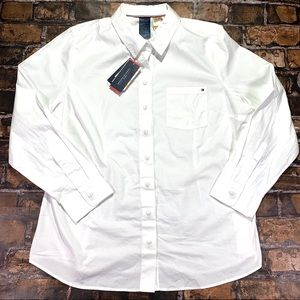 Tommy Hilfiger Women's Dress Shirt White XXL NWT
